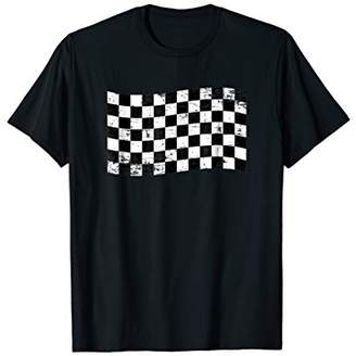 Grand Prix Checkered Racing Flag Tee Men Women Kids Gift
