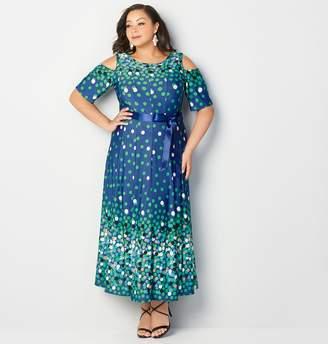 Avenue Floating Dot Maxi Dress