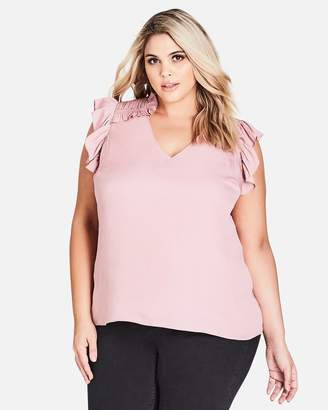City Chic Frilled Out Top