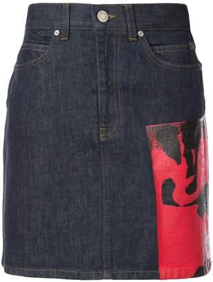 Calvin Klein x Andy Warhol Dennis Hopper Denim Skirt