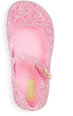 Mini Melissa Girls' Campana Glitter Zigzag Mary Jane Flats - Walker, Toddler