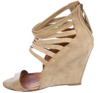 IRO Suede Cage Wedges