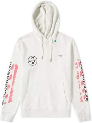0f49c23980 Off-White Off White Stencil Diagonals Popover Hoody
