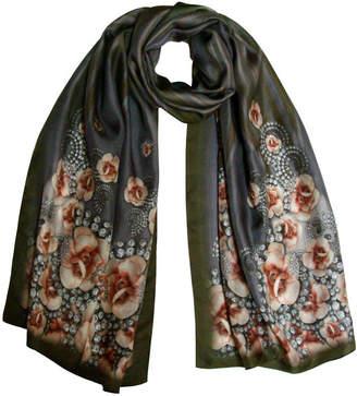 Burton Emma Grape Dimante Digital Print Silk Scarf