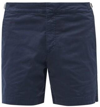 Orlebar Brown Bulldog Cotton Twill Shorts - Mens - Navy