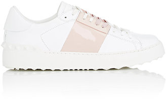 """Valentino Women's """"Open"""" Leather Sneakers $695 thestylecure.com"""