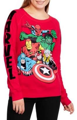 Marvel Comics Marvel Juniors' Classic Avengers Multi Graphic Pullover Sweatshirt