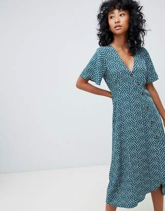 Pull&Bear button front printed dress