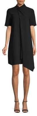 Anne Klein Draped Short-Sleeve Dress