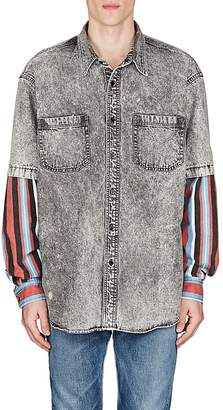 Balenciaga Men's Denim Layered-Look Shirt