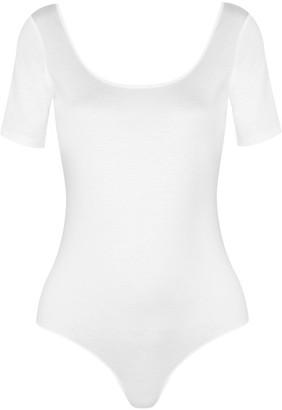 Diane von Furstenberg - Jersey Bodysuit - White $170 thestylecure.com