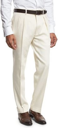 TOM FORD Double-Pleated Trousers, White $1,120 thestylecure.com