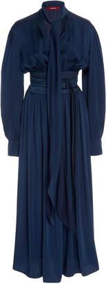 Sies Marjan Faye Crepe Back Satin Full-Sleeve Dress Size: 0