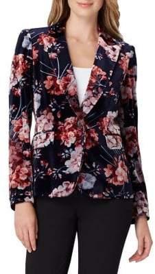 Tahari Arthur S. Levine Floral Velvet Blazer
