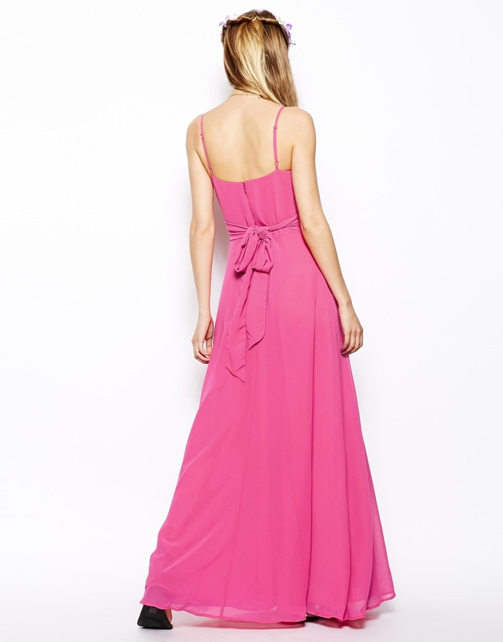Asos Maxi Dress With Wrap Front