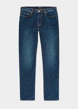 Paul Smith Men's Tapered-Fit 12oz 'Authentic Comfort Stretch' Dark-Wash Jeans