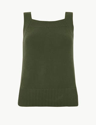 Marks and Spencer Pure Cotton Square Neck Vest