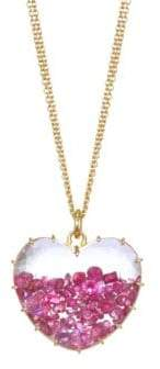 Rubie's Costume Co Renee Lewis 18K Yellow Gold& Heart Pendant Necklace