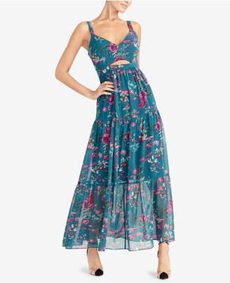 Rachel Roy Printed Cutout Maxi Dress