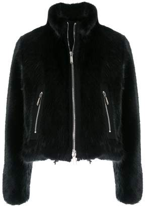 DSQUARED2 faux fur short jacket