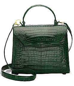Nancy Gonzalez Women's Medium Lily Crocodile Top Handle Bag