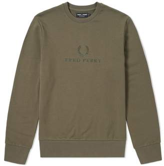 Fred Perry Authentic Tonal Embroidered Sweat