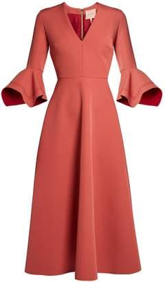 Roksanda Linaria V-neck fluted sleeves midi dress