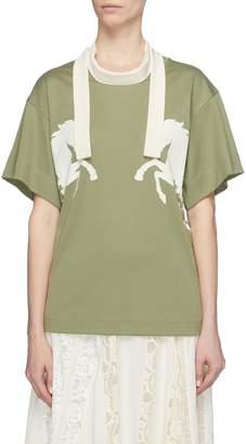 Chloé Sash neck horse print T-shirt