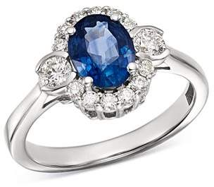 Bloomingdale's Sapphire & Diamond Oval Halo Ring in 14K White Gold - 100% Exclusive