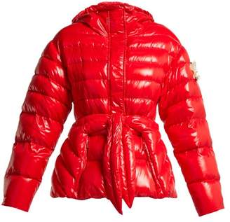 Simone Rocha 4 Moncler Lolly Quilted Down Jacket - Womens - Red