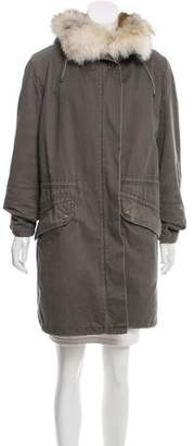 Yves Salomon Army by Fur-Lined Parka Coat