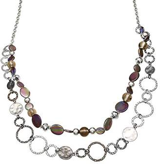 Jules B Grey Two Row Long Necklace of Length 84-92cm