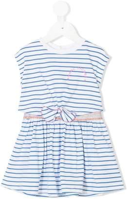 Little Marc Jacobs striped bow detail dress
