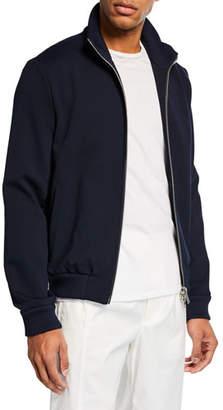 Iceberg Men's Solid Knit Zip-Front Sweater