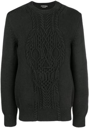 Alexander McQueen cable-knit skull sweater