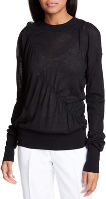 Helmut Lang Ruched Seam Detail Cashmere Sweater