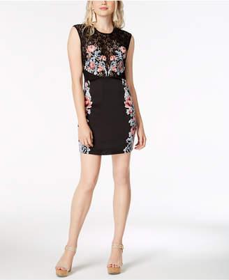 GUESS Eden Lace-Bodice Bodycon Dress