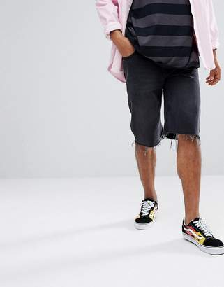 Cheap Monday Beat Shorts in Washed Black