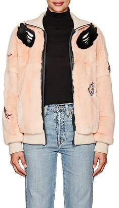 Mr & Mrs Italy Women's Embellished Fur Bomber Jacket