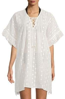Moon River Embroidered Eyelet Coverup