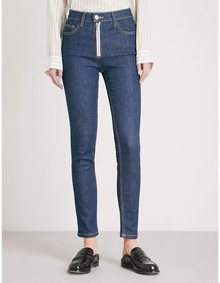 Current/Elliott The High Waist Skinny Zip high-rise jeans
