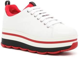 Prada Linea Rossa Calfskin Sneakers