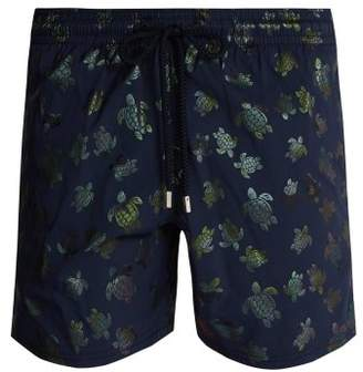Vilebrequin Moorise Turtle Print Swim Shorts - Mens - Dark Navy