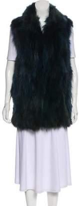 Adrienne Landau Lightweight Fur Vest w/ Tags