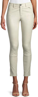 Theory Skinny Leather Ankle Pants