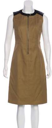 Belstaff Leather-Accented Midi Dress