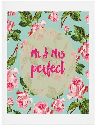 Allyson Johnson Floral Mr And Mrs Perfect Art Print 8