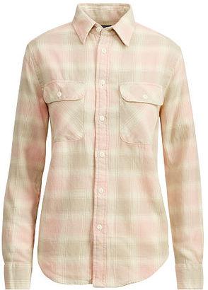 Polo Ralph Lauren Flannel Shirt $125 thestylecure.com