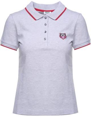 Kenzo Tiger Crest Cotton-pique Polo Shirt