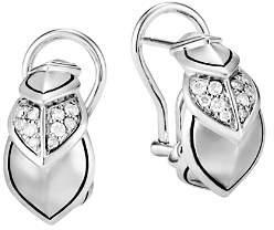 John Hardy Sterling Silver Legends Naga Pavé Diamond Buddha Belly Earrings